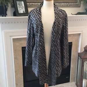 Chico's Silver and Black Cardigan